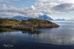 Approaching Stamsund (marko.erman) Tags: norway nordland village fishermen sea mountains water clouds beautiful sony scenic idyllic nature outdoor outside travel popular quiet serenity pure transparency landscape nordic steep sunny montagne ciel paysage eau lac mer dwelling reflections lofoten panorama baie océan vestvågøya stamsund charming isalnd