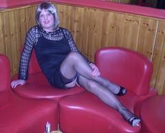 Manchester 040209 Napoleons (janegeetgirl2) Tags: transvestite crossdresser crossdressing tgirl tv ts trans jane gee manchester canal street 2009 little black dress heels napoleans