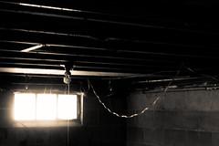 Basement Window (joeldinda) Tags: basement window lightbulb home potter interior wire february g9x rafter wall 4463 powershotg9xii canon mulliken 2019