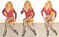 miniskirt and blouse (Katvarina) Tags: skirt miniskirt crossdress crossdresser crossdressing transpeople transgender tgirl tgurl metrosexuality