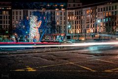 Ursa the Bear, Bristol, UK (KSAG Photography) Tags: bristol sculpture bear urban night art city nikon wideangle hdr nightphotography february 2019 uk unitedkingdom england europe