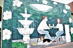 Cafe Wall Art Edit (cap8398) Tags: cafe wall art streetart downtown cafelunch