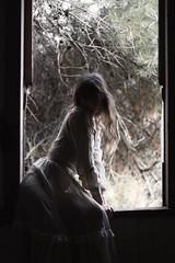 A Window (SkylerBrown) Tags: dagneyhollmann abandoned abandonedhouse creepy dark dress farmhouse fashion female girl gothic haunting model shadows spooky whitedress woman