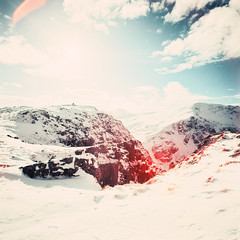 Sunshine on High Spy (Mark Rowell) Tags: infrared ir eir aerochrome kodak hasselblad 903 swc 6x6 120 mediumformat highspy dalehead lakedistrict cumbria uk expired film