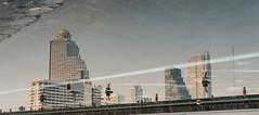 Reflecting on Bangkok (TigerPal) Tags: bangkok thailand building city cityscape urban reflection water dome iconsiam
