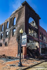 Aftermath of the fire (Kool Cats Photography over 11 Million Views) Tags: fire architecture building buildingfire guthrie guthrieoklahoma aftermath gutted destroyed vintage history oklahoma historic historical