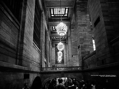 Many in the station premises. (mitsushiro-nakagawa) Tags: newyorkcity manahattan usa bw lumix g3
