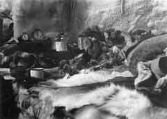 A snow sleep bench inside an igloo/ Un banc en neige pour dormir à l'intérieur d'un igloo (BiblioArchives / LibraryArchives) Tags: lac bac libraryandarchivescanada bibliothèqueetarchivescanada canada sleep beds bed igloo snowbench jeanphilippe 19421944 lit lits endormi endormie