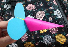 Paper Claw or Finger Puppet (judy_jowers) Tags: make your own toys inexpensive ecofriendly paper cheap frugal diy origami simple easy children kids articulated modular