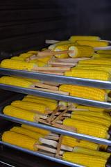 Corn on the Rack (amslerPIX) Tags: planetkids guatemala corn cob food meal yellow warming rack trays