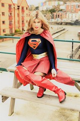 Waiting for someone who needs saving so I can fly to the rescue. Photos by Sven Svenson (Miss Nina Jay) Tags: supergirl boots