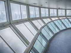 CN Tower Observation Deck (RobertLx) Tags: toronto ontario canada america city architecture cntower observationdeck modern contemporary glass window reflection travel lines grid