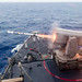 The USS Ashland launches a Standard Missile 2 during a missile exercise in the Pacific Ocean