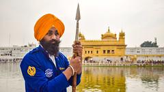 Protecting Golden Temple (Aniruddha1978) Tags: sikh clickedinindia india goldentemple amritsar punjab