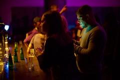 Hulk alert ! (claudia 222) Tags: amsterdam panamanightclub noctilux hulk bar green color 50mm heinecken 7up man marvel night candid mobile