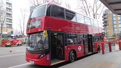 P1150215 2546 YX19 ORY at Walthamstow Central Station Bus Station Walthamstow London (LJ61 GXN (was LK60 HPJ)) Tags: hackneycommunitytransportgroup ctplus alexanderdennistrident2hybrid enviro400hybrid enviro400hhybrid enviro400h enviro400hybridcity enviro400hhybridcity enviro400hcity e400h city 105m 10500 10500mm 2546 yx19ory j4358