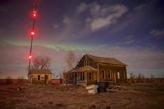Beiseker tower house (John Andersen (JPAndersen images)) Tags: abandoned alberta aurora beiseker house night tower