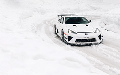 LFA Snowmobile. (Alex Penfold) Tags: lexus lfa nurburgring edition white supercars v10 nbr super car cars snow snowing mountain europe alex penfold 2019 france