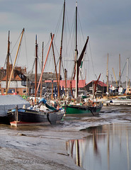 Hythe Quay, Maldon (Dave Hilditch Photography) Tags: essex maldon blackwaterestuary quays ports boats masts rivers water reflctions landscapes