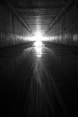 light at the end of the tunnel (eb78) Tags: ca california blackandwhite bw monochrome greyscale grayscale eastbay ue urbex urbanexploration tunnel underground stormdrain subterranean