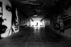 Marilyn manson, a Girl & her Dog (Black&Light Streetphotographie) Tags: mono monochrome menschen menschenbilder leute lichtundschatten lightandshadows people personen portrait peoples portraits urban underpass unterführung tiefenschärfe wow fullframe gegenlicht blackandwhite bw blackwhite bokeh bokehlicious blur blurring dof depthoffield vollformat sony streetshots streets streetshooting streetportrait street schwarzweis streetphotographie sw sonya7rii