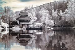 Pagoda at Ebbw Vale Garden Festival site. (karlmccarthy1969) Tags: water blaenaugwent ir infrared japanese pagoda