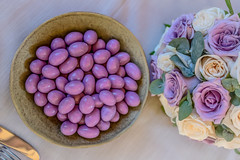 Purple wedding confetti + Bouquet (GAZ BLANCO photographer) Tags: freshness flower high angle view table still life rosé food drink closeup pink color arrangement purple bouquet wedding photography flowers italy best garda gardalake bride groom stilllifephotography matrimonio wed viola