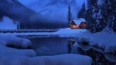 'Winter Wonderland' - Emerald Lake, Yoho (Gavin Hardcastle - Fototripper) Tags: emerald lake yoho britishcolumbia canada canadian rockies blue hour snow winter