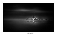 The World After Sea-Level Rise... (michel di Méglio) Tags: bw monochrome olympus noiretblanc reflection sea sky water