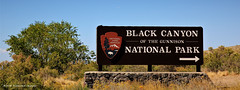 Black Canyon of the Gunnison National Park Sign, Hwy 347, Montrose, Colorado, USA (Black Diamond Images) Tags: blackcanyonofthegunnisonnationalpark montrose colorado usa blackcanyon gunnisonnationalpark coloradolandscapes blackcanyonnationalpark blackcanyonofthegunnison landscapes westernusatrip2018 2018 panorama msice msicepanorama microsofticepanorama nationalparkservice canond60 sigma1770 1770 sign hwy347 southrimroad southrimrd