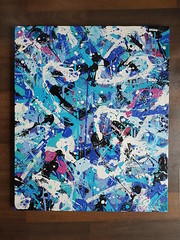 """Organic blue"" Toile de de 80 x 65 cm Bomb Junkiz Crew #graffiti #art #peinture #toile #canvas #graphicdesign #abstract #abstractart #dripping #splash #blue #galerie #galerieart #gallery #paris #aerosol #aerosolart #acrylic #colorislife #colorz (bowsjfb) Tags: dripping abstractart art canvas peinture galerieart colorz abstract aerosolart colorislife toile graphicdesign galerie paris blue acrylic graffiti splash gallery aerosol"
