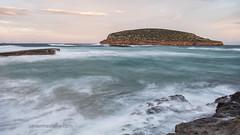 Illa des Bosc (Xavier Mas Ferrá) Tags: temporal amanecer eivissa ibiza mediterráneo mediterraneansea longexposure illadesbosc platgesdescomte beach