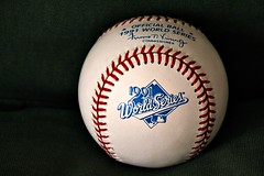 COUNTDOWN TO OPENING DAY: 46 DAYS (MIKECNY) Tags: baseball mlb fayvincent 1991 worldseries atlantabraves minnesotatwins fallclassic rawlings memorabilia
