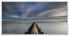 ABC_5387 (Lynne J Photography) Tags: northumberland coast seascapes sunrise water longexposure groynes outfallpipe clouds mono blackwhite pier cambois blyth rocks seatonsluice lighthouse pastel colors dawn light