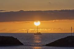 Magic Island Sunset (Fletch in HI) Tags: nikon d5600 tamron 16300 honolulu hawaii oahu magicisland sunset clouds sky water ocean boats beach