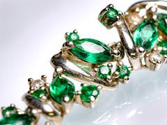 MM: Jewelry (donnicky) Tags: macromondays closeup dof green jewelry macro publicsec whitebackground d850