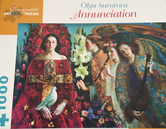 Annunciation (Gina_M_Russell) Tags: jigsawpuzzle puzzle pomegranatepress pomegranatepuzzle 1000pcs jigsaw annunciation angels portrait suvorova painting art