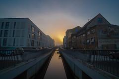 Rostock an der Warnow (Stefan Grage) Tags: germany sunrise rostock warnow morning mist fog