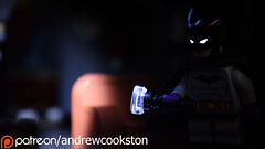 Coming Soon... (Andrew Cookston) Tags: lego dc comics batman brucewayne darwyncooke noir detective superhero custom christo7108 black whitedark blue macro toy still life photography andrew cookston andrewcookston