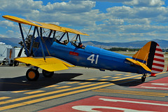 1941 Boeing A75N1 (PT17) s/n 75-2378, N55670, Tribute to Aviation, Montrose, CO, 2018. (skyhawkpc) Tags: montroseregionalairport mtj kmtj montrose co airshow airplane tributetoaviation 2018 gverver copyright allrightsreserved stearman boeing a75n1 pt17 752378 n55670