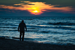 Coda (Lensjoy) Tags: lensjoy sunset ending walk oldman sea seashore silhouette manandnature melancholy beach