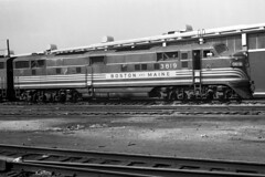 Boston & Maine E7 #3819 at Boston, MA (Houghton's RailImages) Tags: bm bostonmaine e7 emd diesel locomotive bw trains locomotives boston massachusetts usa