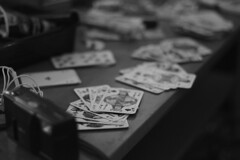 (lillyfe1) Tags: ashes cigarettes cigarette table photography camera monochrome grey white black blackandwhite bw kings alcohol night evening livingroom ace queen king card playing cards