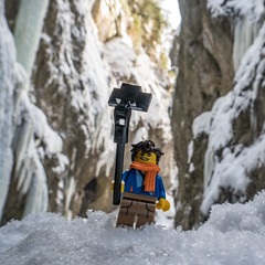 come on Jay... (genelabo) Tags: partnachklamm garmisch partenkirchen partnach klamm bayern winter bavaria black white schwarz weiss sony 6300 ice eis snow gorge flume waterfall rock fels stein mountain berg berge lego minifig minifigure toy fun figure square quadratisch selfie photograph ninjago jay