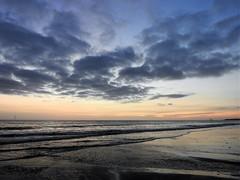 Sunrise and Dark Clouds Over Blyth Beach (Gilli8888) Tags: nikon coolpix p900 coast coastal eastcoast northeast northumberland northsea blyth blythbeach seaside sea sunrise dawn morning february light beach sand clouds