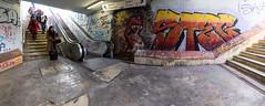 Alcantara, Lisbon, December 30, 2018 (Ulf Bodin) Tags: alcantaramar stairs lisbon lisboa canonef1635mmf4lisusm metro urbanlife streetphotography graffiti lissabon canoneosr station portugal pt