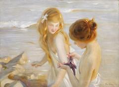Paul Émile Chabas, Deux jeunes Filles à l'Étoile de Mer (Selma Morgenstern) Tags: paulémilechabas frenchpainter sea beach painting