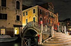 unknown Venice (werner boehm *) Tags: wernerboehm unknownvenice nightshot treppe brücke architecture building