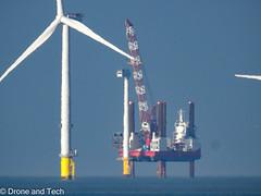 DSCN0842 (droneandtech) Tags: windfarm nikon nikonp900 superzoom liverpool construction energy liverpoolbay mersey england uk britain install crane sea hilbre hilbreisland westkirby wirral merseyside
