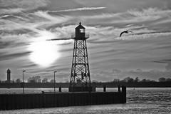 Light fire (Zoom58.9) Tags: sky clouds lighthouse sea water waves landscape outside seascape europe germany himmel wolken leuchtfeuer see wasser wellen landschaft draussen seelandschaft deutschland bremerhaven